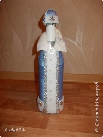 Здравствуйте!!!! С Наступающим всех!!!  Решила сделать в подарочек одёжки на бутылочки. фото 4