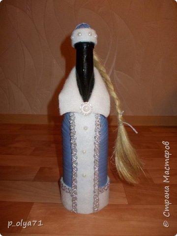 Здравствуйте!!!! С Наступающим всех!!!  Решила сделать в подарочек одёжки на бутылочки. фото 5