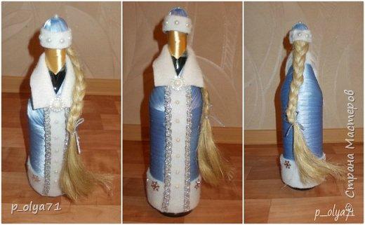 Здравствуйте!!!! С Наступающим всех!!!  Решила сделать в подарочек одёжки на бутылочки. фото 3