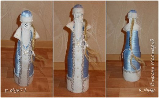 Здравствуйте!!!! С Наступающим всех!!!  Решила сделать в подарочек одёжки на бутылочки. фото 6