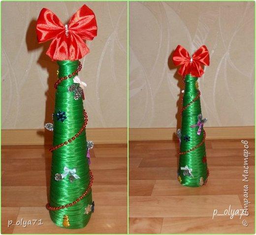 Здравствуйте!!!! С Наступающим всех!!!  Решила сделать в подарочек одёжки на бутылочки. фото 10