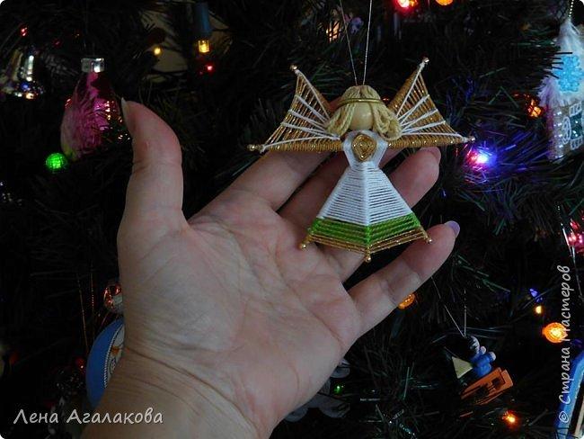 По просьбам выкладываю МК по плетению рождественского ангелочка из ниток. фото 2
