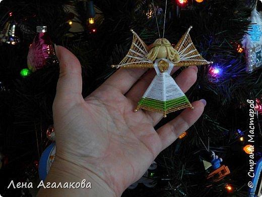 По просьбам выкладываю МК по плетению рождественского ангелочка из ниток. фото 61