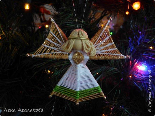 По просьбам выкладываю МК по плетению рождественского ангелочка из ниток. фото 1