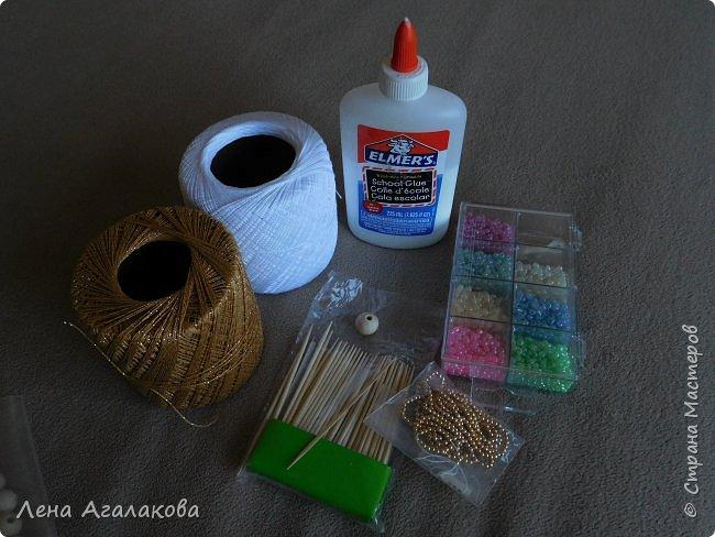 По просьбам выкладываю МК по плетению рождественского ангелочка из ниток. фото 3