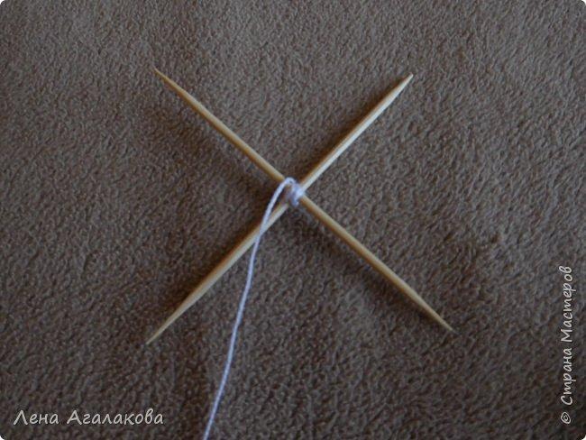 По просьбам выкладываю МК по плетению рождественского ангелочка из ниток. фото 6
