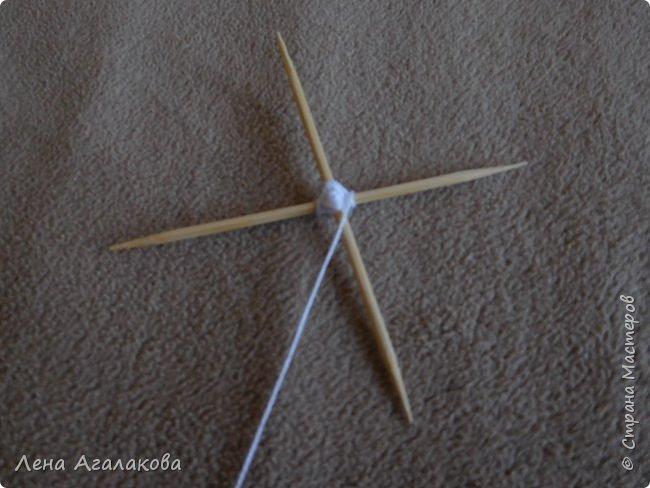 По просьбам выкладываю МК по плетению рождественского ангелочка из ниток. фото 9