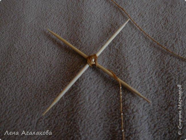 По просьбам выкладываю МК по плетению рождественского ангелочка из ниток. фото 13
