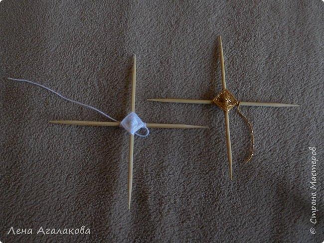 По просьбам выкладываю МК по плетению рождественского ангелочка из ниток. фото 14