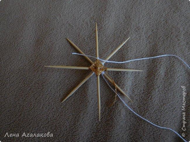 По просьбам выкладываю МК по плетению рождественского ангелочка из ниток. фото 16