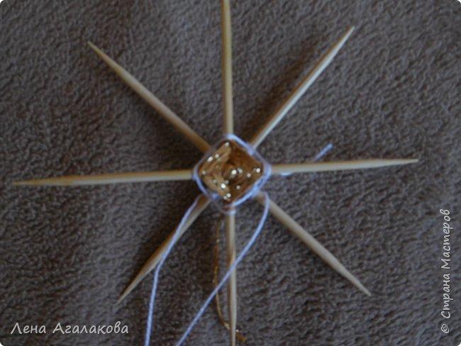 По просьбам выкладываю МК по плетению рождественского ангелочка из ниток. фото 17