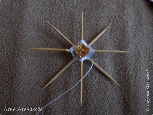 По просьбам выкладываю МК по плетению рождественского ангелочка из ниток. фото 18