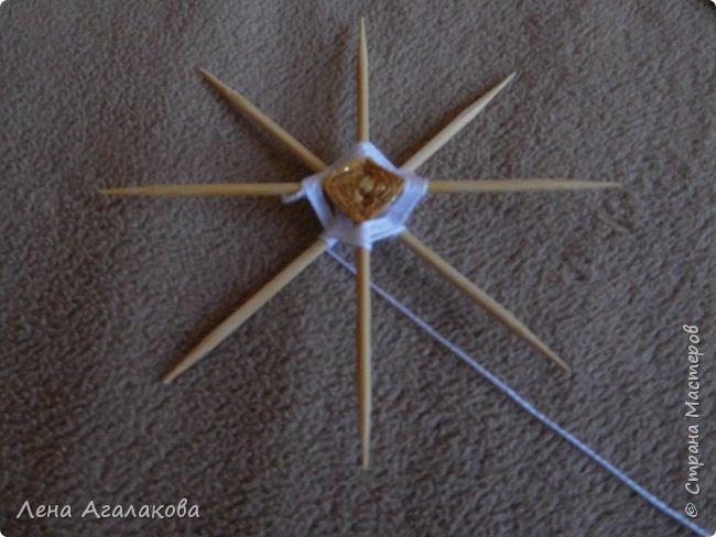 По просьбам выкладываю МК по плетению рождественского ангелочка из ниток. фото 19