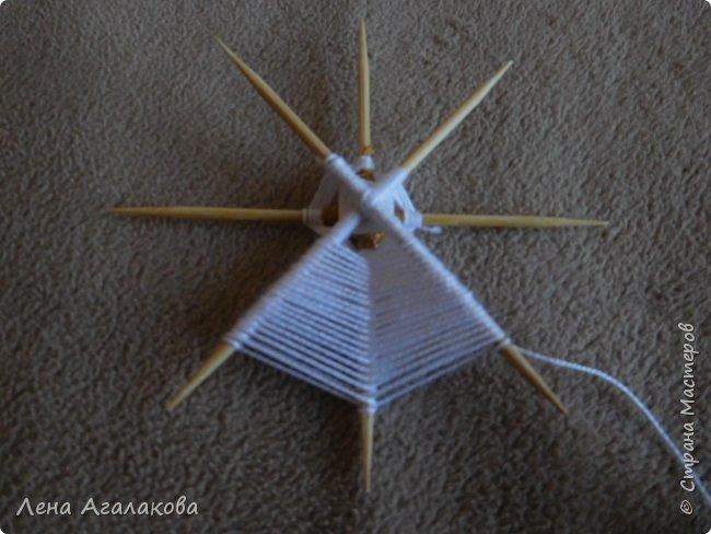 По просьбам выкладываю МК по плетению рождественского ангелочка из ниток. фото 24