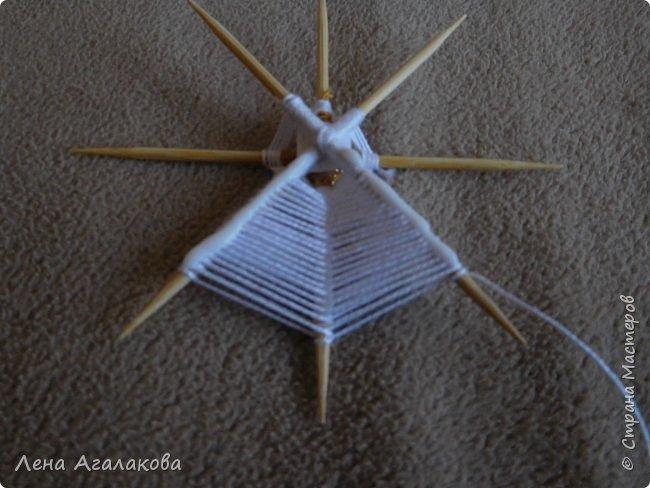 По просьбам выкладываю МК по плетению рождественского ангелочка из ниток. фото 25