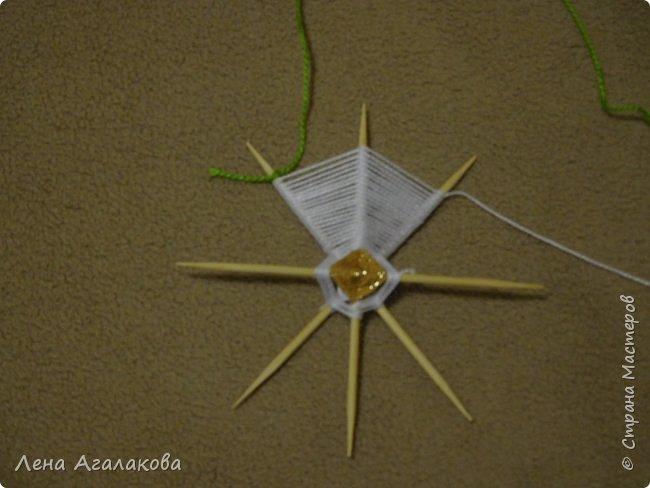 По просьбам выкладываю МК по плетению рождественского ангелочка из ниток. фото 26