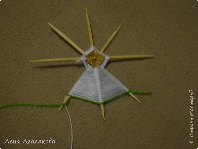 По просьбам выкладываю МК по плетению рождественского ангелочка из ниток. фото 27