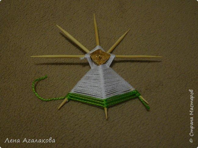 По просьбам выкладываю МК по плетению рождественского ангелочка из ниток. фото 28