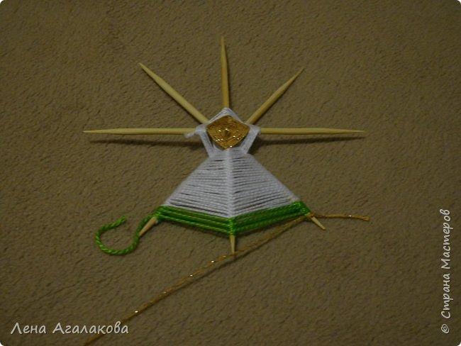 По просьбам выкладываю МК по плетению рождественского ангелочка из ниток. фото 29
