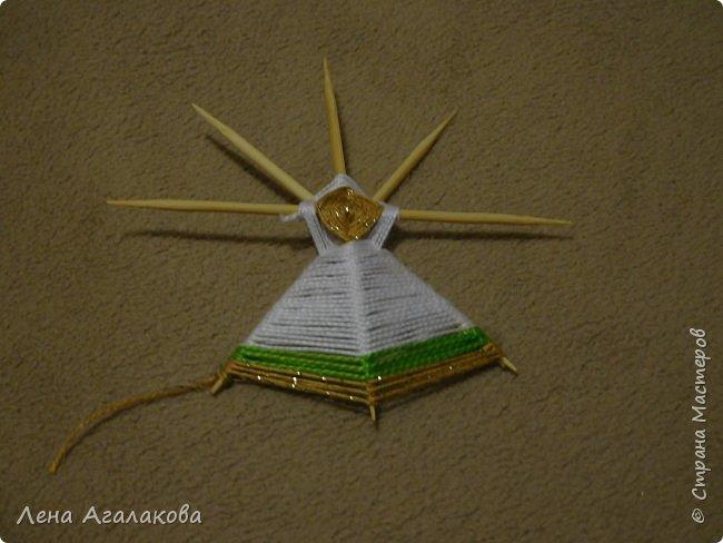 По просьбам выкладываю МК по плетению рождественского ангелочка из ниток. фото 30