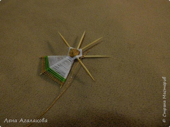 По просьбам выкладываю МК по плетению рождественского ангелочка из ниток. фото 31