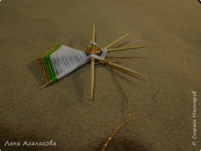 По просьбам выкладываю МК по плетению рождественского ангелочка из ниток. фото 32