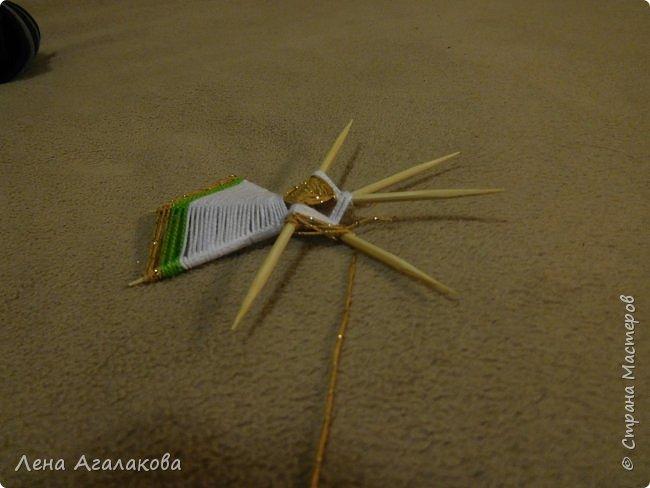 По просьбам выкладываю МК по плетению рождественского ангелочка из ниток. фото 33