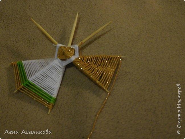 По просьбам выкладываю МК по плетению рождественского ангелочка из ниток. фото 34