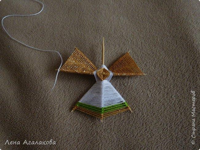 По просьбам выкладываю МК по плетению рождественского ангелочка из ниток. фото 35