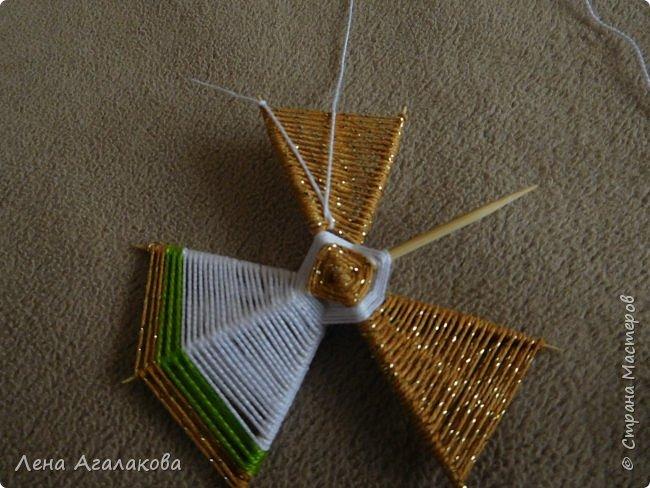 По просьбам выкладываю МК по плетению рождественского ангелочка из ниток. фото 38