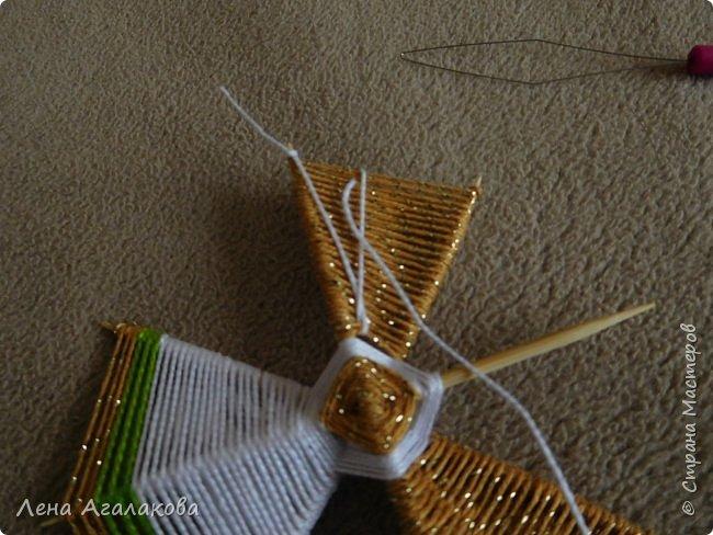 По просьбам выкладываю МК по плетению рождественского ангелочка из ниток. фото 39