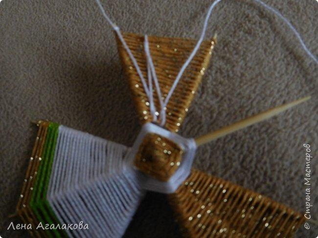 По просьбам выкладываю МК по плетению рождественского ангелочка из ниток. фото 40