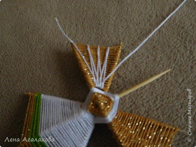 По просьбам выкладываю МК по плетению рождественского ангелочка из ниток. фото 41