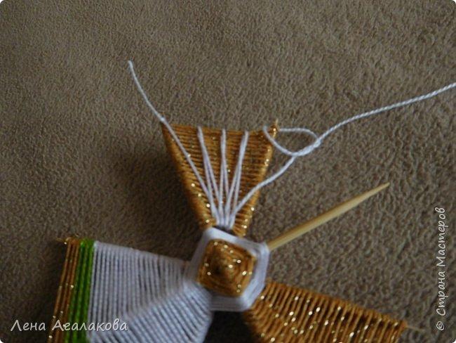 По просьбам выкладываю МК по плетению рождественского ангелочка из ниток. фото 42