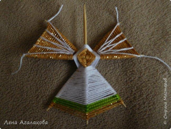 По просьбам выкладываю МК по плетению рождественского ангелочка из ниток. фото 43