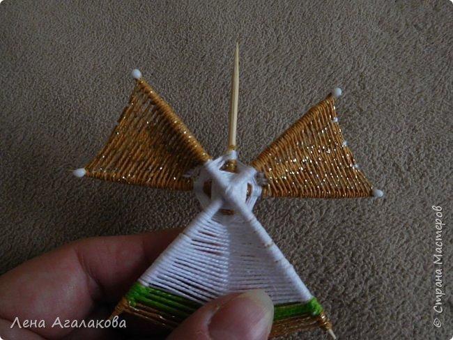 По просьбам выкладываю МК по плетению рождественского ангелочка из ниток. фото 44