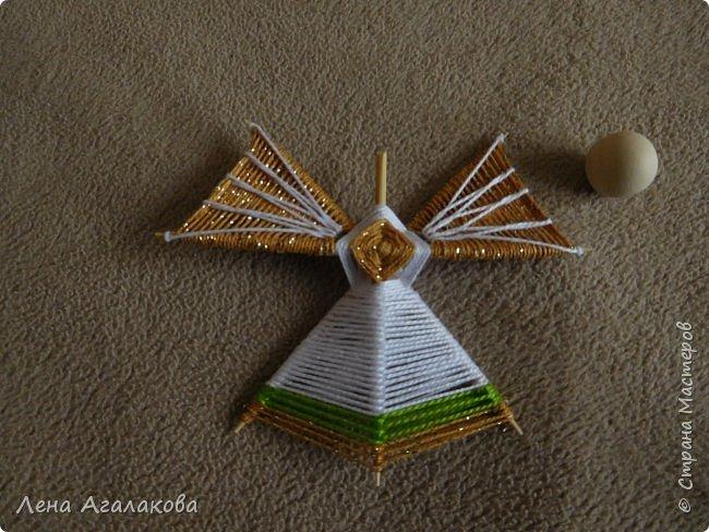 По просьбам выкладываю МК по плетению рождественского ангелочка из ниток. фото 46