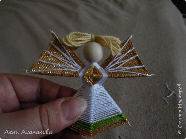 По просьбам выкладываю МК по плетению рождественского ангелочка из ниток. фото 54