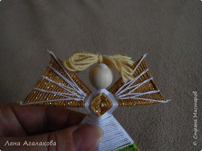 По просьбам выкладываю МК по плетению рождественского ангелочка из ниток. фото 55
