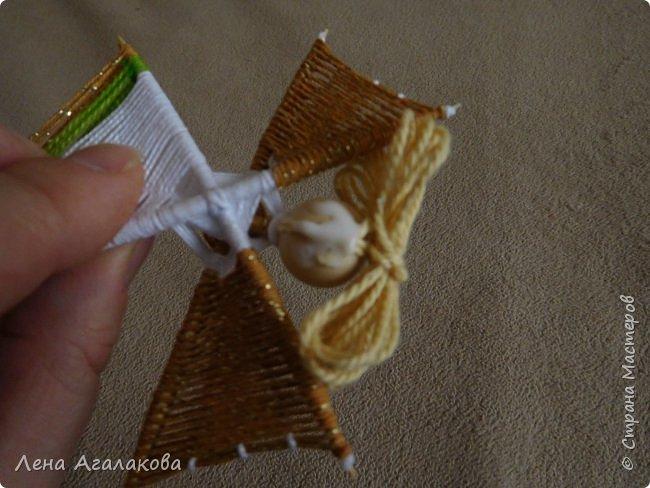 По просьбам выкладываю МК по плетению рождественского ангелочка из ниток. фото 56