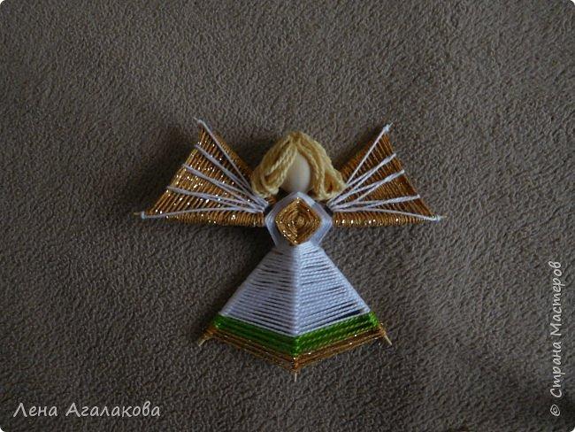 По просьбам выкладываю МК по плетению рождественского ангелочка из ниток. фото 57