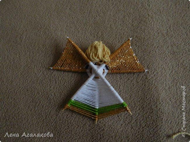 По просьбам выкладываю МК по плетению рождественского ангелочка из ниток. фото 58