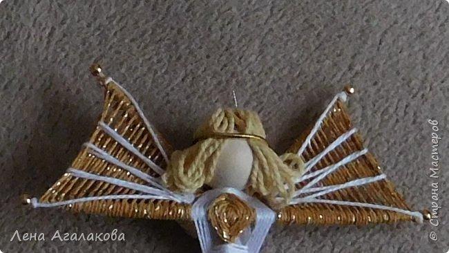 По просьбам выкладываю МК по плетению рождественского ангелочка из ниток. фото 59