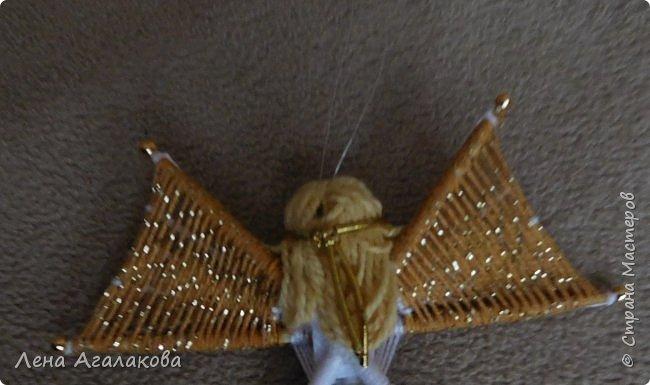 По просьбам выкладываю МК по плетению рождественского ангелочка из ниток. фото 60