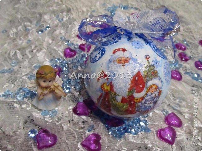 """Добрый вечер всем !!! У меня небольшая партия новых шариков...Надеюсь, вы не устали от них, и хочу сказать, что это предпоследний пост в этом году, так что потерпите... Снимая первый шарик, так его приблизила, но красивый ,голубой блеск все равно не виден...((  Я его так полюбила, этот мелкий сверкающий голубой порошок, купленный в """"Леонардо"""",  что теперь только им и пользуюсь, никакие другие мне уже не нравятся.. фото 13"""