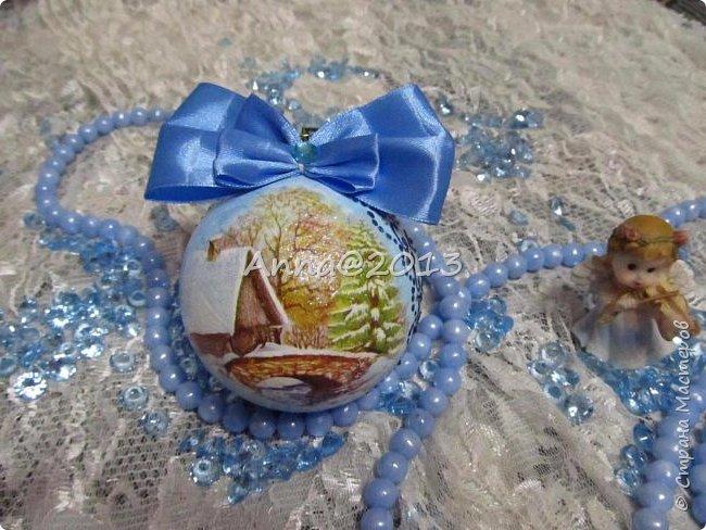 """Добрый вечер всем !!! У меня небольшая партия новых шариков...Надеюсь, вы не устали от них, и хочу сказать, что это предпоследний пост в этом году, так что потерпите... Снимая первый шарик, так его приблизила, но красивый ,голубой блеск все равно не виден...((  Я его так полюбила, этот мелкий сверкающий голубой порошок, купленный в """"Леонардо"""",  что теперь только им и пользуюсь, никакие другие мне уже не нравятся.. фото 2"""