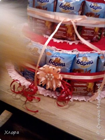 """Вот такой """"тортик"""" сделан на день рождения внучке в садик. Идея, конечно, не нова, но детали- наше все. Из-за деталей работа становится """"вашей"""" и неповторимой. фото 2"""