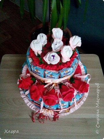 """Вот такой """"тортик"""" сделан на день рождения внучке в садик. Идея, конечно, не нова, но детали- наше все. Из-за деталей работа становится """"вашей"""" и неповторимой. фото 3"""