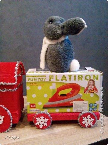 """Вот такой паровоз с платформой """"привезет"""" подарки моей птичке на Новый год.  фото 6"""