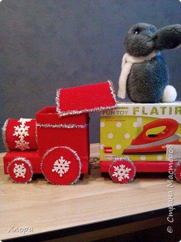 """Вот такой паровоз с платформой """"привезет"""" подарки моей птичке на Новый год.  фото 5"""